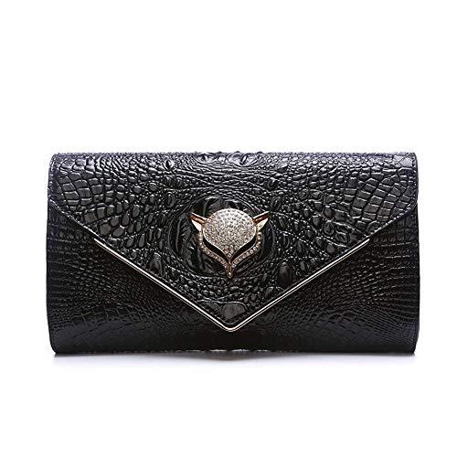 Haiwan Mode Elegant Klatsch Tasche Lässig Shopper Clutch Bag Kette Echt Leder Umhängetasche Damen Croco Schultertasche Wasserfest Crossbody Bag -
