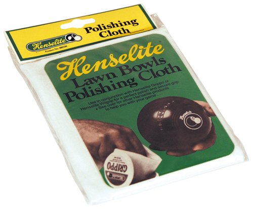 Henselite Lawn Bowls Cleaning & Polishing Cloth White Bowlers Towel