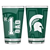 NCAA Michigan State Spartans #1 Dad Pint Glass Set (2-Pack), 16-Ounce