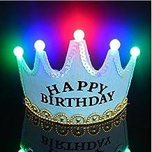 Sombreros de fiesta de cumpleaños de príncipe y princesa - Sombreros de corona - Accesorios de fiesta para niños