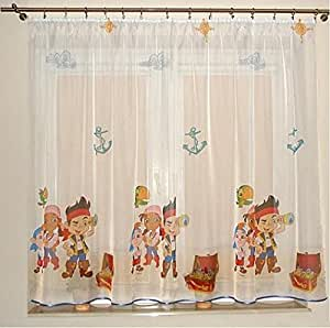 Disney voile net curtain - Jake And The Neverland Pirates, ready made by Disney