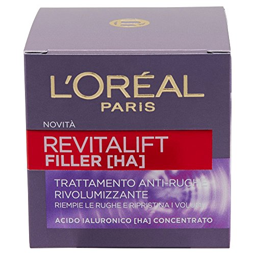 L'Oréal Paris Revitalift Filler Crema Viso Anti-Rughe Rivolumizzante, 50 ml