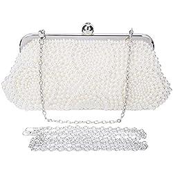 Bolso con perlas para Boda - color Blanco
