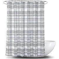 XINGUANG Poliéster Impermeable Cortina de baño Cortina de baño Partición Impresión Digital Línea Simple Celosía Cortina (Tamaño : 180cm*180cm)