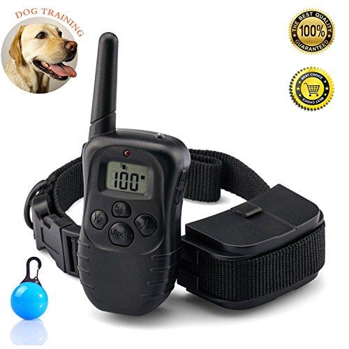[Vendita calda] Buydaly Iarde di impermeabilità 330 collare per addestramento, collare di addestramento remoto Pet, gamma Remote collare per addestramento con modalità luce un segnale acustico e vibrazione