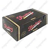 smoking tubetti de luxe neri 100 pz - 5 confezioni da 100 pz