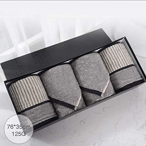 Jyt-yj elementi essenziali per il bagno di famiglia gli uomini del cotone del fronte della lavata assorbente comoda del cotone solido una scatola di 4 articolo resistente, morbido e super assorbente