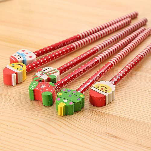 30er-Pack Cartoon Santa Pencil, geeignet für Kinder, Jugendliche und Erwachsene, strapazierfähiger, schlagfester und strapazierfähiger Hb-Schulbleistift, perfekt zum Malen, Schreiben 19.5-21cm (Trio Kostüm Kinder)