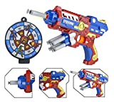 #10: Wishkey Super Hero Spider Man Character Soft Suction Bullet Blaster Gun Toy with 6 Foam Bullets,Target Board Shooting Game for Kids