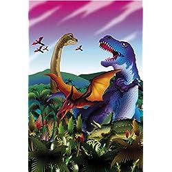 Dinosaurios - Tyrannosaurus Rex, Diplodocus, Triceratops, Velociraptor Fotomural Autoadhesivo (180 x 120cm)