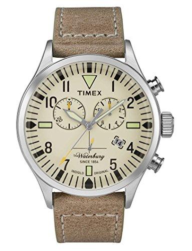 Timex Herren Chronograph Quarz Uhr mit Leder Armband TW2P84200
