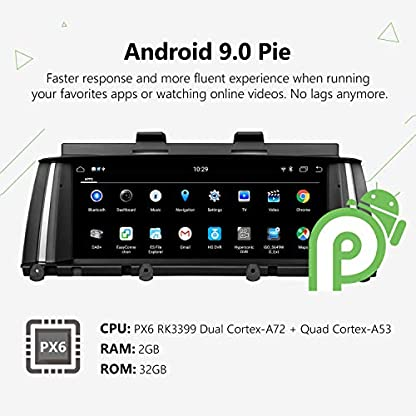 GA9305NB-Android-90-Fit-BMW-X3-F25-X4-F26-2014-2016-NBT-Audio-Stereo-Untersttzung-Auto-Play-Retain-iDrive-System-DVD-Bluetooth-SWC-Backup-Cam-88-Zoll-Blendschutz-HD-Touchscreen-GPS