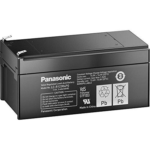 Panasonic LC-R123R4PG Ladegerät schwarz Valve-regulated Lead
