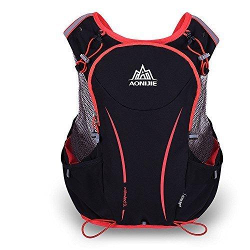 AONIJIE 5L nylon impermeabile Esecuzione zaino maratona ciclistica Borse in corso Vest bollitore Borsa Sport (S/M)
