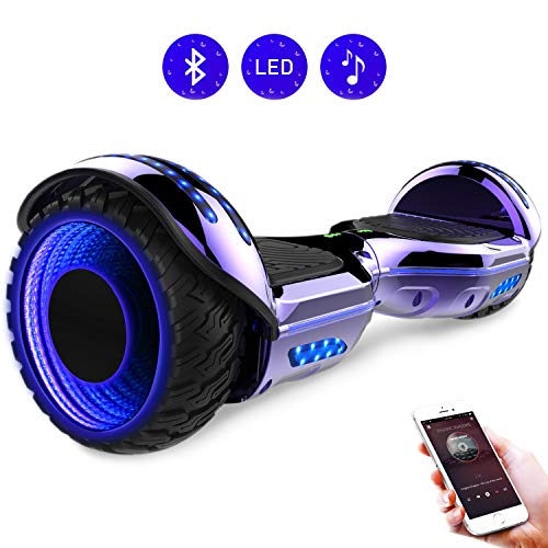 RCB Hoverboard elettrico da 6,5 pollici auto bilanciamento Hoverboard con ruote 6.5\'\' lampeggianti Bluetooth per adulti e bambini