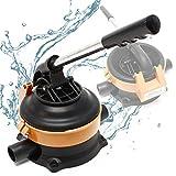 Wiltec Handpumpe Wasserpumpe mit rostfreiem Stahlhebel max. 20l/min