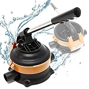 WilTec Bomba Manual Bomba de Agua con Palanca de Acero Inoxidable máx. 20 l/min