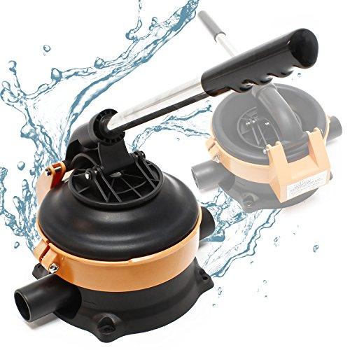 Elektrische Haus-wasser-pumpe (Wiltec Handpumpe Wasserpumpe mit rostfreiem Stahlhebel max. 20l/min)
