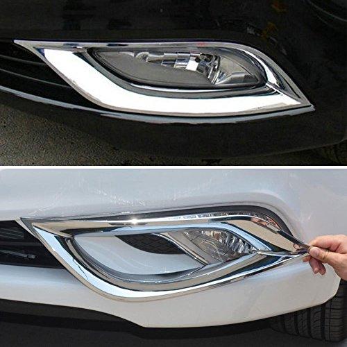 Odster Fit f¨¹r Hyundai Sonata YE I45 2011 2012 Auto-Molding Nebelscheinwerfern Abdeckung Trim Styling Aufkleber Chrom ABS Car-Styling