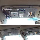 Organizer Per Parasole di Auto,Careynoce Automobile Organizer Borsa Possono Riporre CD/DVD Occhiali Carta di credito Penna -- Grigio