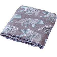 Lifetree Pucken & Receiving Decken – Musselin Bambus Baumwolle Wickeltuch, Stilltuch & Spucktücher - Unisex und bunte Prints Baby Dusche Geschenk