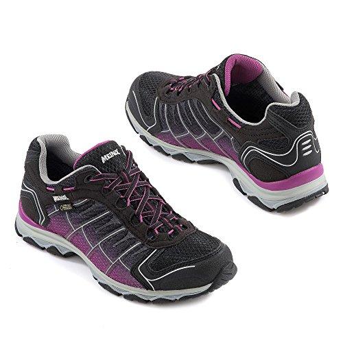 Meindl , Chaussures de randonnée basses pour femme Noir - Schwarz/Beere