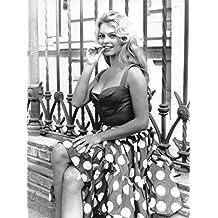 Photographie Noir et Blanc de Brigitte Bardot (24x30 cm)