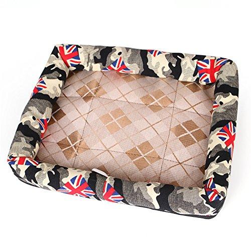 Cupcinu Pet Matratze Hund Decke Pet Nest Haus Zwinger Tier Nest Kissen Pet Pads geeignet für den Sommer Gedruckt mit Fahnen und unregelmäßigen Mustern Size 40 * 30cm