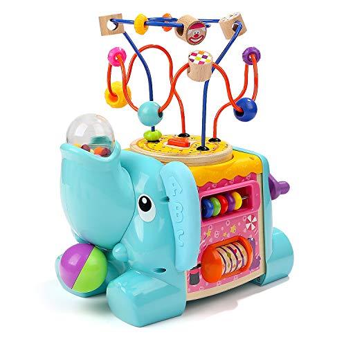 TOP BRIGHT Motorikwürfel Baby ab 1 Jahr Geburtstag Geschenk, Motorikspielzeug Kinder Spielzeug Jungen und Mädchen, Baby Spiele-Center Aktivität Würfel