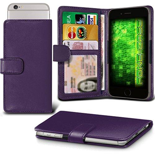 Fone-Case (Dark Purple) Aldi MEDION LIFE E5005 Hülle Clamp-Art-Mappen Schutz-PU-Leder-Abdeckung