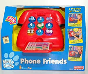 Fisher Price Phone Friends - Nick Jr Blues clues (Toy Talking Phone with Games. Ideal for ages 18 months and upwards) by Mattel (Copyright Viacom Nickelodeon TV) - Battery Electronic