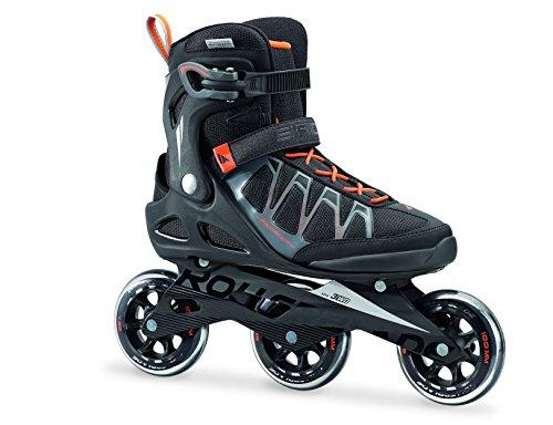 Rollerblade Herren Sirio 100 3WD Inline Fitness Skate, schwarz/Orange, 43