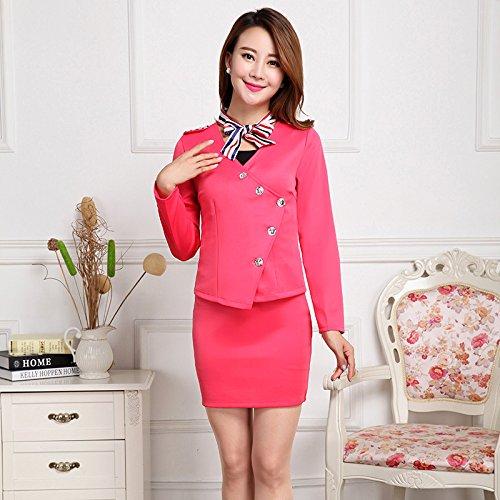 WYMBS Il nuovo kit del vestito gonna femmina indumento professionale suit impostare,l,rose red