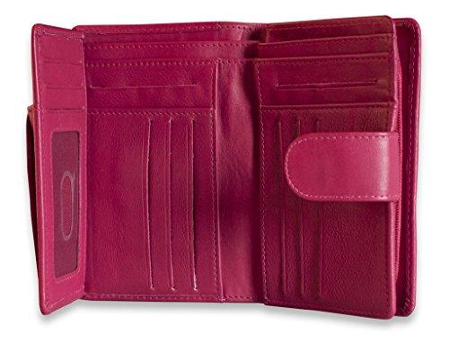 Brunhide - Borsa in vera pelle - disponibile in diversi colori # 207-300 - Bacca Fucsia
