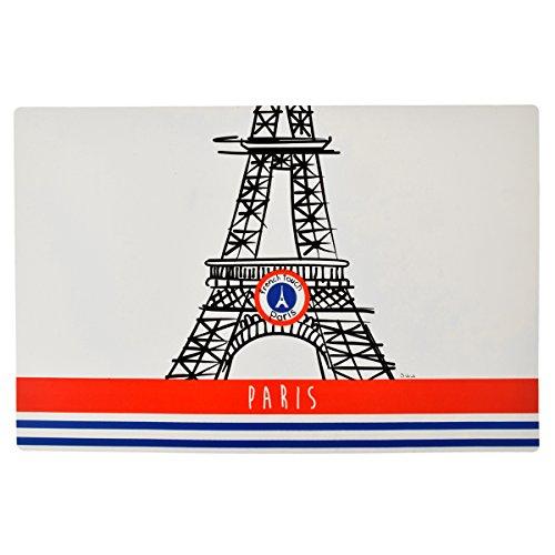 Incidence Paris 28954 Set DE Table - Paris French Touch - Tour Eiffel Plastique, Rouge Bleu, 44 x 28,5 x 0,02 cm