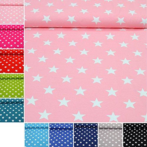 Jersey-Stoff 'Lena' Sterne in Bester Öko-TEX Qualität / Meterware ab 50cm / FX (02. Pink)