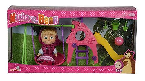Simba 109301816 - Mascha und der Bär - Mascha Puppe mit Spielplatz Preisvergleich
