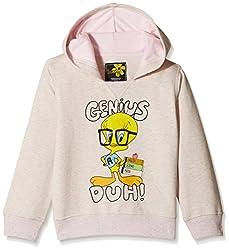 Tweety Girls Sweatshirt (TW1DHG1250B_PINK GREY MELANGE_4/5)