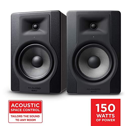 M-Audio BX8 D3 Pair - Professionelle 2-Wege Aktiv Studiomonitor und PC Lautsprecher 8 zoll woofer, 150 W für Musikproduktion und Mixing mit eingebauter Acoustic Space Control, 2 Stücke