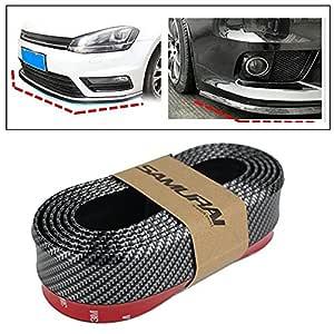 3A Featuretail SAMURAI Carbon Fiber Car Body Kit Bumper Lip Side Skirt Rubber Edge Decorative Protector