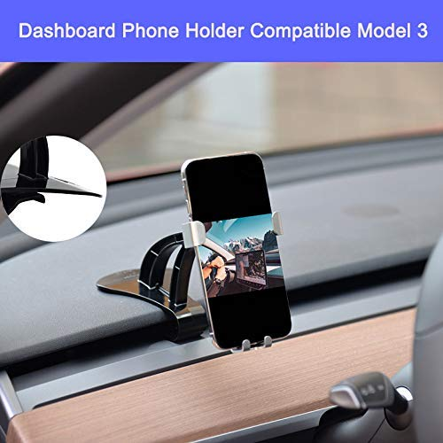 Lmzx Dashboard Phone Mount,Car Dashboard Phone Holder Car Phone Mount Stand for Model 3