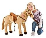 Produkt-Bild: Happy People 58410 - Pferd mit 3-fach Sound, beige, stehend, Tragkraft ca. 100 kg
