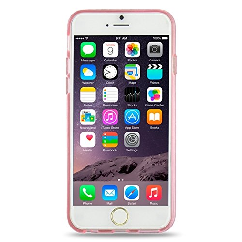Ultra-dünnes schimmerndes Puder 3D Diamant-Muster-weiche TPU Fall-Abdeckung für iPhone 6 u. 6S by diebelleu ( Color : Transparent ) Pink