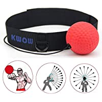 Boxing Reflex Ball,KWOW Portable Pro Boxing Training Speed Ball with Headband for MMA Speed Training Adult/Kids Gift Improve Punch Focus Sport Exercise Practice Fitness Trainer - Pro Ball Version 85g
