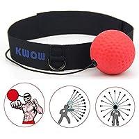 Bola de combate con banda para la cabeza para gimnasio, entrenamiento de velocidad, boxeo, boxeo, boxeo, boxeo, artes marciales mixtas (MMA), color rojo