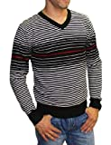 Pull rayé homme col rond