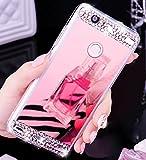 Etui coque Huawei P9Lite, Ukayfe Luxe Etui pour Huawei P9Lite Miroir Couverture Ultra Mince Coque Case de protection avec doux TPU Design, mode plaqué série complète screen-protector, Skin Étui Stilosa Housse de protection Shell anti-rayures Coque arrière pour Huawei P9lite-d' or