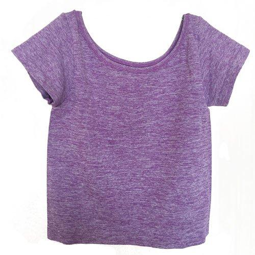 Heart&M Sport breve maniche gilet Yoga donne coreane ombelico sexy fitness eseguire , purple , Free