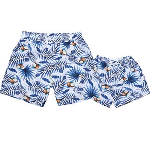 Pantalones Cortos De Playa De Verano, Bañadores para Niños Y Padres, Trajes De Baño De Dos Piezas...