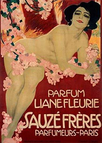 The Poster Corp Leopoldo Metlicovitz - Parfum Liane Fleurie/Sauze Freres Kunstdruck (50,80 x 71,12 cm)